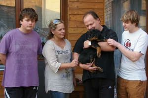Aika will live with her new family in Zlin
